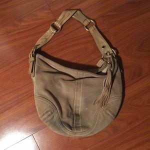 Coach suede hobo